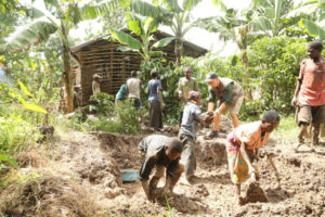 Batwa home being built