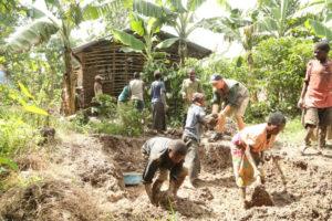 Batwa home being built